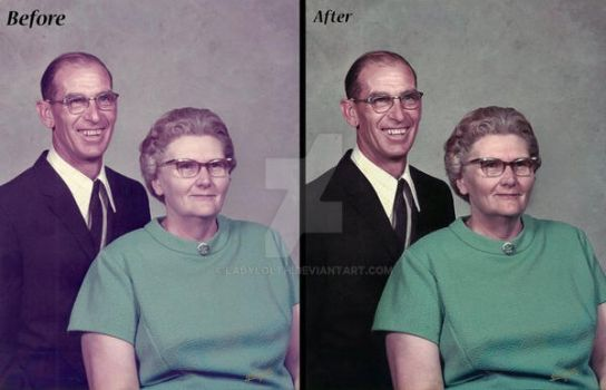 Grandparents Before and After by LadyLolth