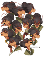 Blade Under Mask: Asami Expressions by White-Mantis