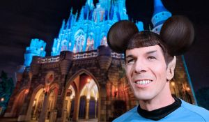 Spock at Disneyland by bullzito