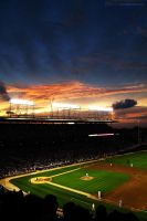 Lights of Wrigley Field by red5
