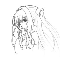 Golden Darkness profile sketch by TimeAlter