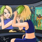Samus dying her hair by jkalsop