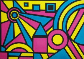 Geometric Painting Black by magg1303