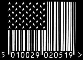 Barcode Flag by ibleedgraphite
