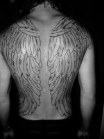 wings tattoo lines by ANTHIEWINGS