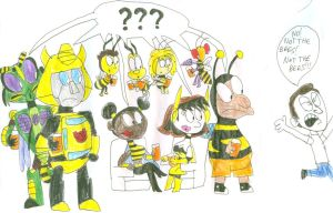 Bee Party by SithVampireMaster27