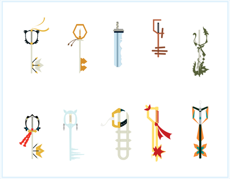 X Keyblades of the Masters by mpckh2