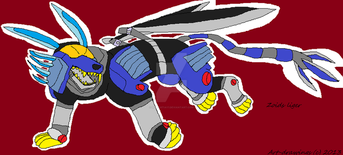 zoids liger drawings by hlaquitia17