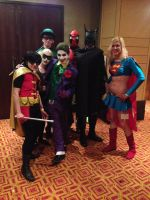 DC Crew and Deadpool by Whispers2Horses