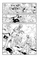Zombie page in Invincible 33 by RyanOttley