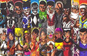 Favorite Black Characters Bookmarks fan art 01 by d13mon-studios