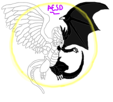Light and Darkness Dragon by AESD