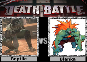 Death Battle: Reptile vs Blanka by SpikeJet2736