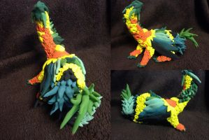 Pineapple Dragon - Dragon Statue - SOLD by SonsationalCreations