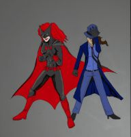 Batwoman and The Question by panda21595