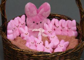 Peeps in a basket by InKibus