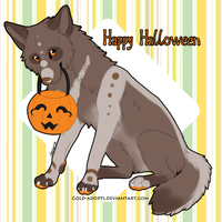 CLOSED | Halloween Wolf Raffle by gold-adopts