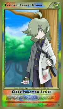 Trainer Card: Laurel Green by WastedTimeEE