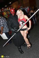 2013 Phoenix Comicon 11 Klarra and Darth Maul by tatehemlock