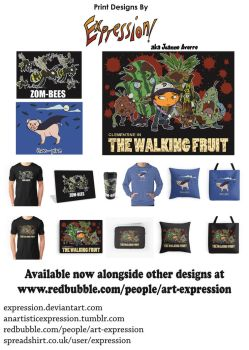 Prints: Zombees, Hampires and the Walking Fruit by Expression