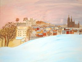 Snow covered Armagh by Teeno2007