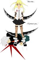 Soul Eater: 'This time I'll protect you...' by shiniia
