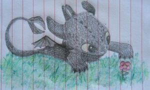 Baby Toothless by Vickytoria7109