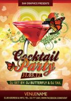 Cocktail Party Flyer by SanGraphics
