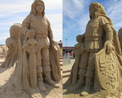 Link Sand Sculpture by Bemari