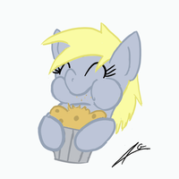 Derpy eating by legaffeur