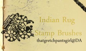 Indian Rug Stamp Brushes by thatgretchpantsgirl