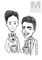 SKETCH - Troy and Abed by MeghanMurphy