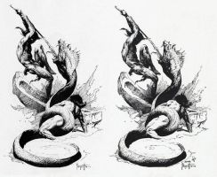 Frazetta copy by Dorian Iten by theartdepartment