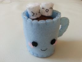 Hot Chocolate Mug and Mallows Felt Plushie by MUbyGaelle