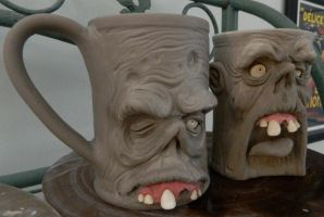 Attack of the Zombie Mugs- WIP by thebigduluth