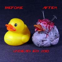 Rot Duck Brain ooak compare by Undead-Art