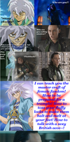 Loki and Bakura - Lesson: Fangirls by Witty-Allowishus