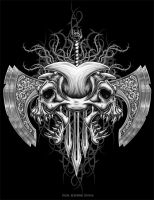 Tribal Demon Skull by Oblivion-design