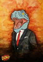 Dinosaur in a Suit by darrenOhhh