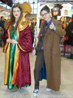 Tenth Doctor and a Time Lady - Expocomic 2014 by ArwendeLuhtiene