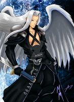 Sephiroth in color by Bfetish