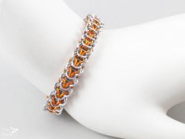 Orange Aluminum High Elf Bracelet by ASilverDragonfly