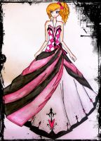 cute pink princess gown by BethzAbonitz
