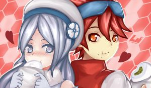 Aila and Reiji by LoveJuiceP