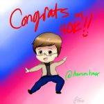 Congrats Aaron on 40K! by MetaRikuHetalia