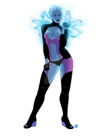 Liara Pin Up by BunnyNuggetz