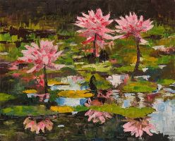 Waterlilies by Silmariena