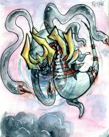 Giratina is attacking by UmbreoNoctie