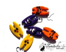 Earrings Hares by Tantalia