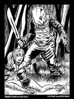 Friday the 13th Part 2 BandW by BryanBaugh
